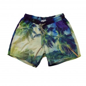Swim Short - Antigua Palm Print