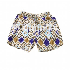 Swim Short - Brown Ikat Print